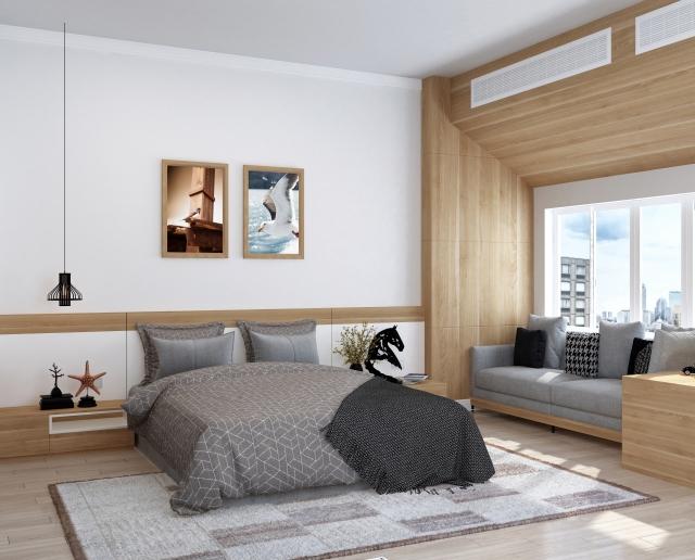 一見きれいに見える寝室