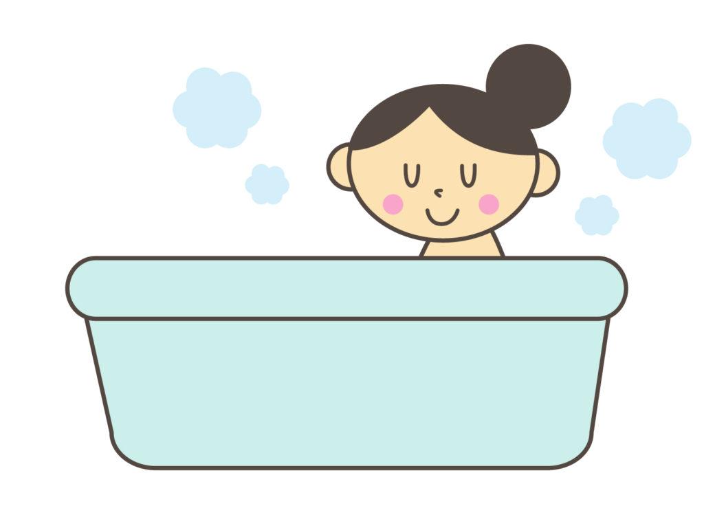 お風呂に入る女性イラスト